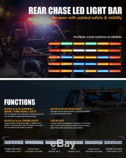 Xprite 36 Rear Chase LED Light Bar with Reverse Brake Running for Polaris RZR UTV