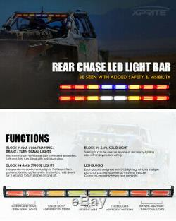 Xprite G5 36 Inch COB LED Rear Chase Light Bar Reverse for Polaris RZR Buggy